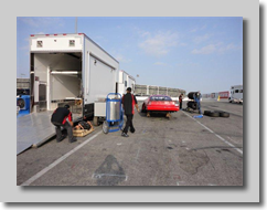 Cole's pit crew gets ready for race day